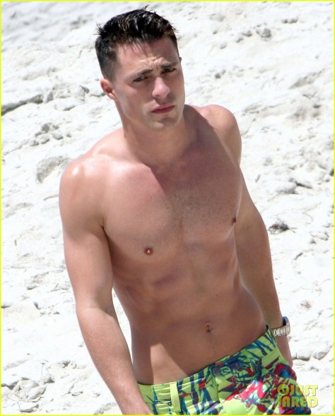 colton-haynes-shirtless-beach-05
