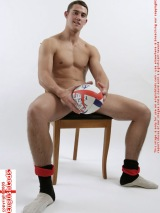 Rugby Stud Model with ball