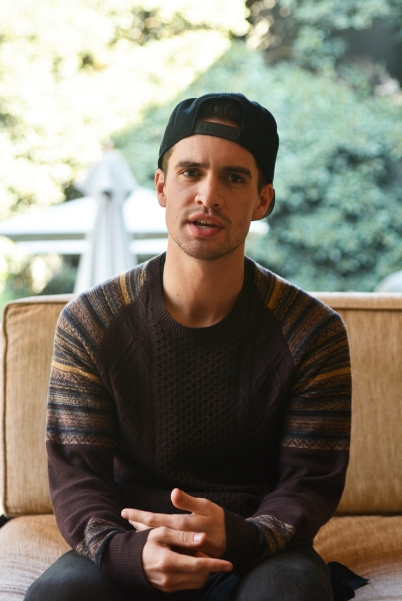 Citizen reporter speaking, 5 September 2014 at the Saxon Hotel in Sandton with Brendon Urie, the lead singer of Panic! at the Disco before his preforance at the I Heart Joburg on 6 September 2014 at Ellis Park Stadium, Johannesburg. Picture: Valentina Nicol